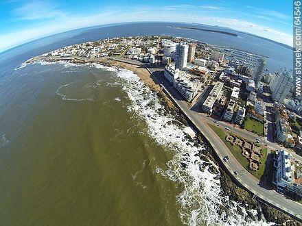 Aerial photo of Peninsula - Photos of the open sea - Punta del Este and its near resorts - URUGUAY. Image #64546