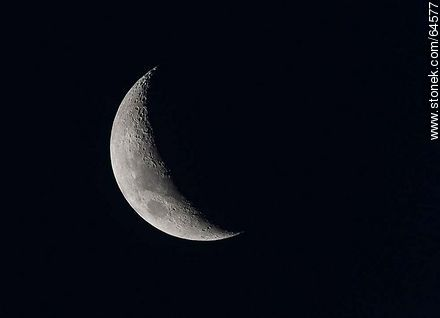 Crescent moon - Photographic stock - MORE IMAGES. Image #64577