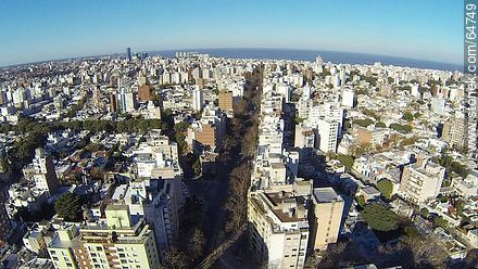 Aerial view of Avenida Brasil - Aerial photos of Montevideo, URUGUAY. Image #64749