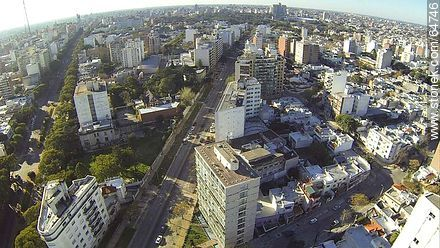 Aerial photo of Bulevar Artigas north and Avenida Luis P. Ponce - Aerial photos of Montevideo, URUGUAY. Image #64746
