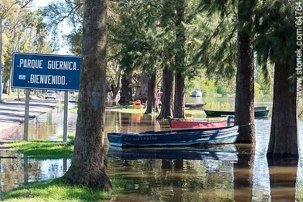 Río Negro overgrown. Guernica Park flooded - Photos of the City of Mercedes - Soriano - URUGUAY. Image #64764