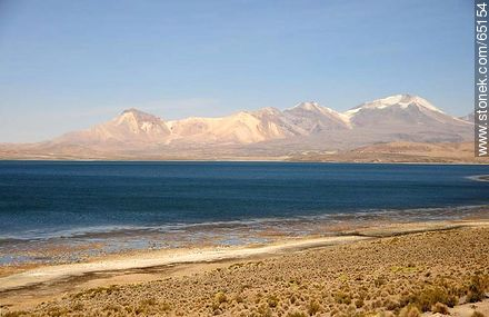 Chungará Lake. Nevados de Quimsachata - Photos of the Province of Parinacota - Chile - Others in SOUTH AMERICA. Image #65154