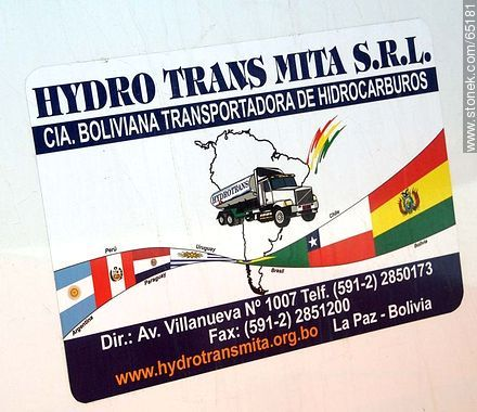 Bolivian truck adhesive in Chile - Photos of the Province of Parinacota - Chile - Others in SOUTH AMERICA. Image #65181