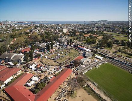 Aerial view of the Exhibition of the Rural Association of Uruguay in 2015 - Photos of a Ranching Exhibition - Department and city of Montevideo - URUGUAY. Image #65026
