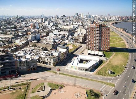 Aerial photo of a section of the Ciudad Vieja. Street Guarani - Aerial photos of Montevideo, URUGUAY. Image #65032
