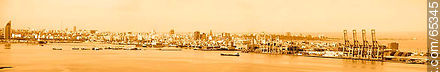 Panoramic view from the Antel tower to Sarandi breakwater - Extra photos of Montevideo., URUGUAY. Image #65345