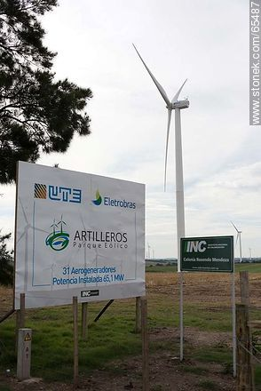 Wind farm Artilleros - Photos of rural area of Colonia - Department of Colonia - URUGUAY. Image #65487