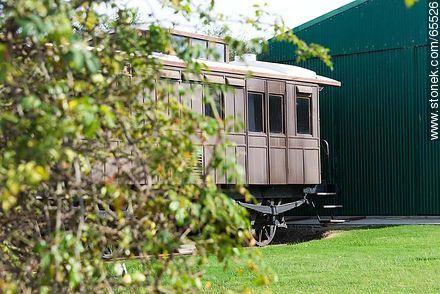 Railway Museum in front of the Real de San Carlos - Photos of Colonia del Sacramento - Department of Colonia - URUGUAY. Image #65526
