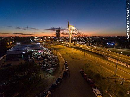 Aerial view of the Bridge of the Americas - Photos of Ciudad de la Costa - Department of Canelones - URUGUAY. Image #65625