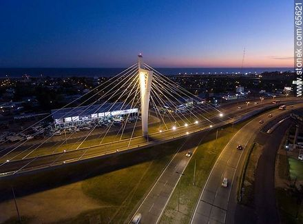 Aerial view of the Bridge of the Americas - Photos of Carrasco quarter - Department and city of Montevideo - URUGUAY. Image #65621