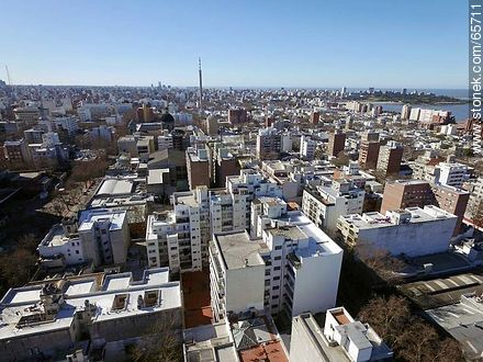 Aerial view of  the quarter Centro - Photos of downtown - Department and city of Montevideo - URUGUAY. Image #65711