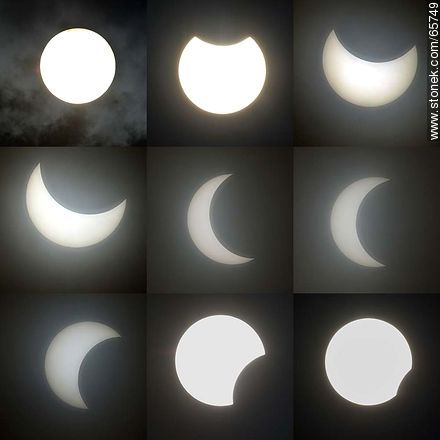 Stages of partial eclipse of the sun in Montevideo, February 26, 2017 - Extra photos of Montevideo., URUGUAY. Image #65749