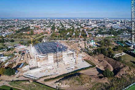 Aerial photo of the construction of the Antel Arena. May 2017 - Extra photos of Montevideo., URUGUAY. Image #65776