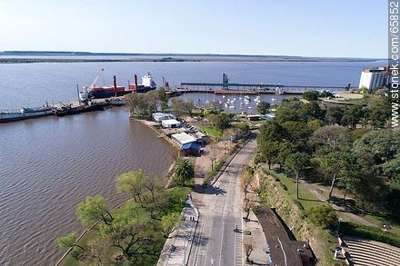 Aerial view of the Rowing Club and port of Fray Bentos on the Uruguay River - Photos of Fray Bentos, URUGUAY. Image #65852