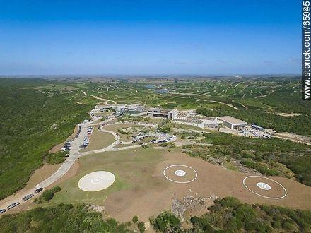 Aerial photo of the Bodega Garzón. Heliports - Fotos at Pueblo and winery Garzon - Department of Maldonado - URUGUAY. Image #65935
