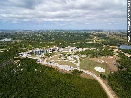 Aerial photo of the Bodega Garzón - Fotos at Pueblo and winery Garzon - Department of Maldonado - URUGUAY. Image #65931