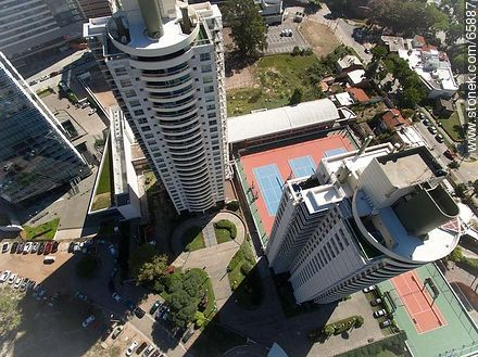 Aerial view of the Nautical Towers - Photos of Buceo quarter - Department and city of Montevideo - URUGUAY. Image #65887