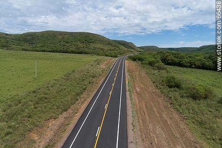 Aerial view of Route 30 Eugenio Garzón by the Cuchilla Negra - Variety of photos of Artigas department - Artigas - URUGUAY. Image #66438