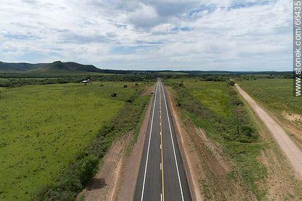 Aerial view of Route 30 Eugenio Garzón by the Cuchilla Negra - Variety of photos of Artigas department - Artigas - URUGUAY. Image #66435