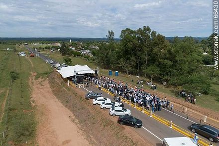 Aerial view of the event for the completion of maintenance works on route 30 - Variety of photos of Artigas department - Artigas - URUGUAY. Image #66430