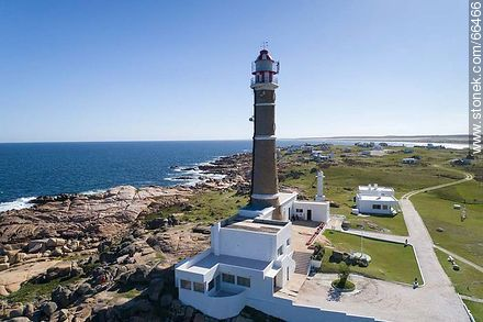 Aerial view of the Cabo Polonio lighthouse - Photos of Cabo Polonio. - Department of Rocha - URUGUAY. Image #66466
