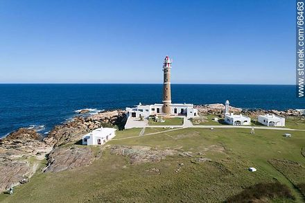 Aerial view of the Cabo Polonio lighthouse - Photos of Cabo Polonio. - Department of Rocha - URUGUAY. Image #66463