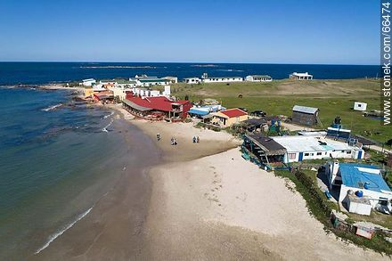 Aerial view of the south end of the north beach - Photos of Cabo Polonio. - Department of Rocha - URUGUAY. Image #66474