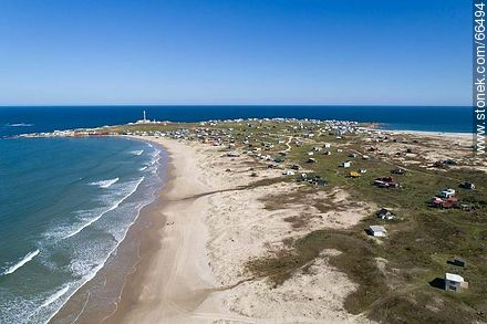 Aerial view of the north beach - Photos of Cabo Polonio. - Department of Rocha - URUGUAY. Image #66494