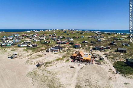 Vista aérea de casas y hostels - Photos of Cabo Polonio. - Department of Rocha - URUGUAY. Image #66493