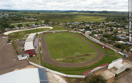 Aerial view of the Raúl Goyenola Stadium - Photos of the city of Tacuarembó - Tacuarembo - URUGUAY. Image #66596
