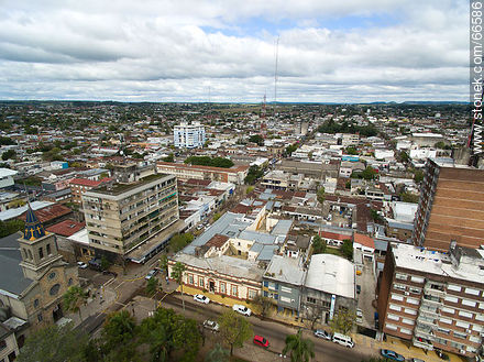 Aerial view of the departmental capital. Police Headquarters - Photos of the city of Tacuarembó - Tacuarembo - URUGUAY. Image #66586