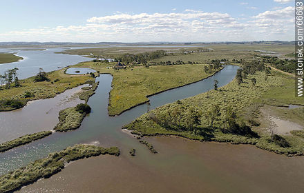 Aerial view of wetlands of Arroyo Maldonado - Photos of rural area of Maldonado - Department of Maldonado - URUGUAY. Image #66693
