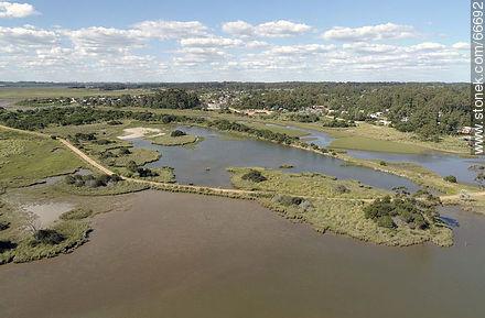 Aerial view of El Tesoro in Arroyo Maldonado - Photos of rural area of Maldonado - Department of Maldonado - URUGUAY. Image #66692
