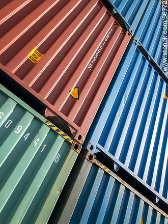 Stacked cargo containers - Photographic stock - MORE IMAGES. Image #66772