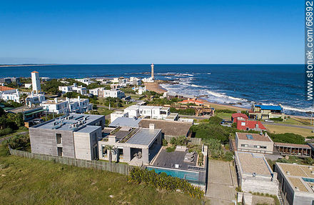Aerial view of the spa and the lighthouse - Photos of Jose Ignacio - Punta del Este and its near resorts - URUGUAY. Image #66892