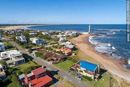 Aerial view of the spa and the lighthouse - Photos of Jose Ignacio - Punta del Este and its near resorts - URUGUAY. Image #66894