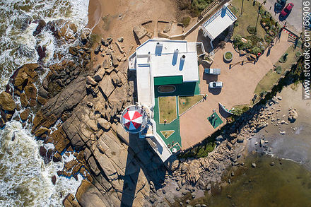 Aerial zenithal view of the lighthouse - Photos of Jose Ignacio - Punta del Este and its near resorts - URUGUAY. Image #66906