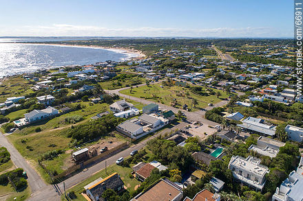 Aerial view of the spa to the west. Main square - Photos of Jose Ignacio - Punta del Este and its near resorts - URUGUAY. Image #66911