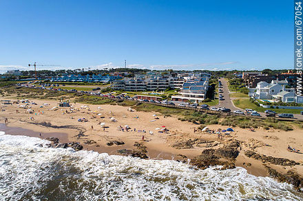 Aerial view of Bikini beach in Manantiales - Photos of La Barra and Manantiales - Punta del Este and its near resorts - URUGUAY. Image #67054
