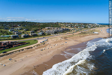 Aerial view of the beaches of Manantiales and Punta Piedras - Aerial photos of Punta del Este - Punta del Este and its near resorts - URUGUAY. Image #67061