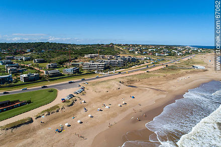 Aerial view of the beaches of Manantiales and Punta Piedras - Photos of La Barra and Manantiales - Punta del Este and its near resorts - URUGUAY. Image #67062