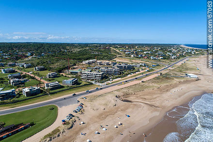 Aerial view of the beaches of Manantiales and Punta Piedras - Photos of La Barra and Manantiales - Punta del Este and its near resorts - URUGUAY. Image #67063