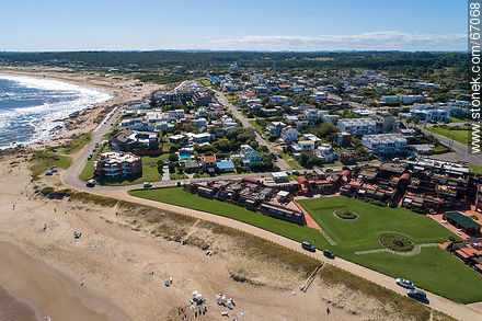 Aerial photo of the resort Manantiales - Photos of La Barra and Manantiales - Punta del Este and its near resorts - URUGUAY. Image #67068