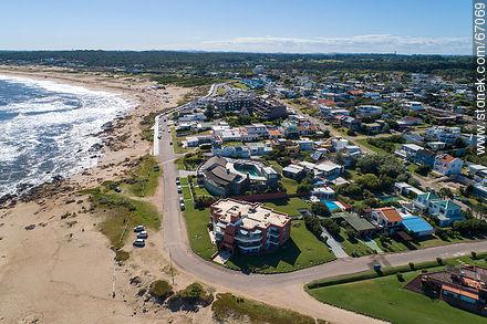 Aerial photo of the resort Manantiales - Photos of La Barra and Manantiales - Punta del Este and its near resorts - URUGUAY. Image #67069