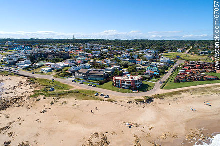 Aerial view of Bikini beach in Manantiales - Photos of La Barra and Manantiales - Punta del Este and its near resorts - URUGUAY. Image #67057