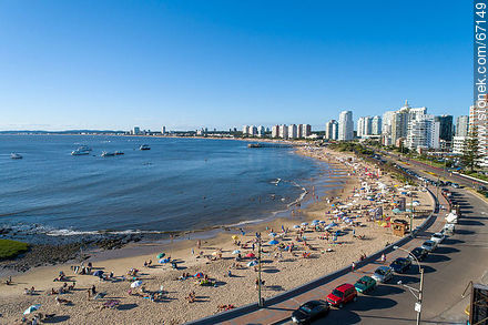 Mansa Beach at Parada 1 - Photographs of beaches of Punta del Este - Punta del Este and its near resorts - URUGUAY. Image #67149
