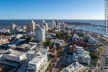 Aerial photo of 20th Street - Photos of Peninsula de Punta del Este - Punta del Este and its near resorts - URUGUAY. Image #67171