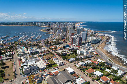 Aerial photo of the peninsula of Punta del Este - Photos of Peninsula de Punta del Este - Punta del Este and its near resorts - URUGUAY. Image #67188