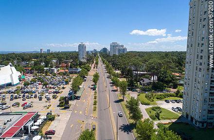 Aerial view of Roosevelt Avenue to the north - More photos of Punta del Este - Punta del Este and its near resorts - URUGUAY. Image #67200