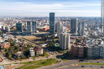 Aerial view of the towers in the Buceo neighborhood, Rambla Armenia and 26 de Marzo Street in 2020 - Photos of Buceo quarter - Department and city of Montevideo - URUGUAY. Image #67778